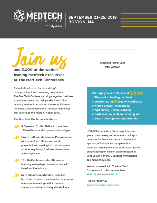 Supporting Partner Marketing Toolkit | The MedTech Conference