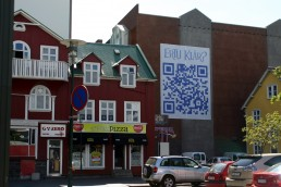 An interesting use of a QR code in downtown Reykjavik