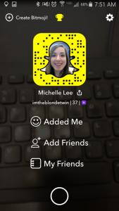 Snapcode Screen on Snapchat