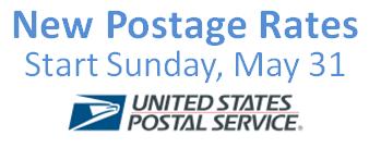Postage increase kicks off June   CSG Creative